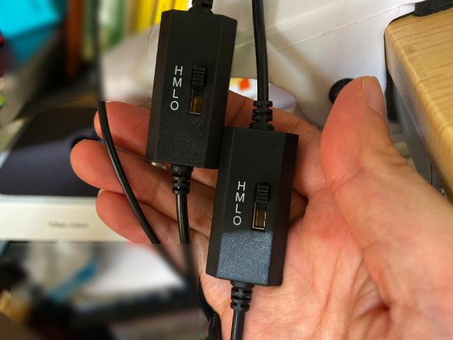 USBファンにはスイッチもついている